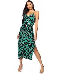 BOOHOO Midi šaty s otevřenými zády 8ae6df9ef3