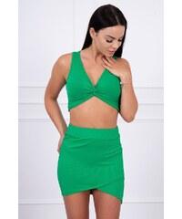 e74de322b3be MladaModa Súprava krátky top + sukňa model 8894 zelená
