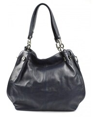 Kožená luxusní tmavě modrá kabelka do ruky i přes rameno lorreine VERA  PELLE 26084 919b5e09383