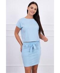 e53ba06a1d06 MladaModa Súprava top + sukňa s viazankou modrá