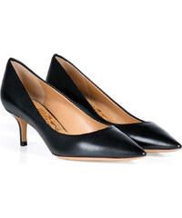 Salvatore Ferragamo Leather Susi Kitten Heel Pumps