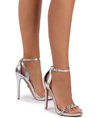 United Fashion Stříbrné sandály Chloe cc91c7daea