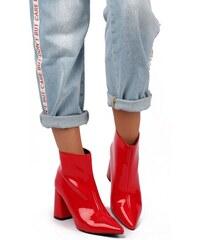 United Fashion Červené členkové čižmy Sienna 9ebb5f38a3b