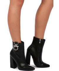 United Fashion Čierne členkové čižmy Kendall 61f124a2bf6