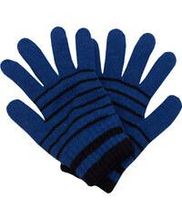 5d51aa8442c Zimní rukavice Pletex 10963 Modrá s černými proužky