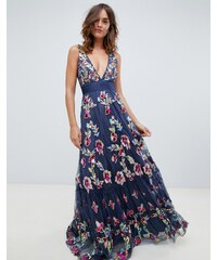 A Star Is Born embellished prom maxi dress with plunge front in multi -  Multi 131092fd3e
