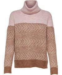 ONLY Dámský svetr New Mara L S Rollneck Pullover Knt Indian Tan 79eb0f4172