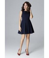 925245a8aa6d LENITIF Elegantné puzdrové šaty K476 Blue - Glami.sk