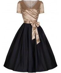 Zlato-Čierne Šaty LINDY BOP Gina 15f3846e81
