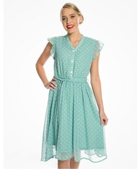 785b849e90c6 Lindy Bop Kody Zelené Šaty S Bodkami