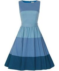 Lindy Bop Audrey Modré Pruhované Šaty 1f6a165b1ec