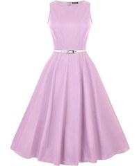 b65a42293a14 Lady Vintage Hepburn Levanduľové Šaty