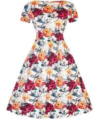 fcf49d9a5745 Lady Vintage Eloise Kvetinové Šaty