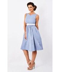 01be4db251b8 Lindy Bop Delta Svetlo-Modré Bodkované Šaty