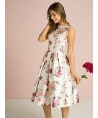 96976dc8ea13 Chi Chi London Chi Chi Izi Krémové Šaty S Ružami