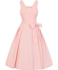 51857cbc2236 Lady Vintage Iris Ružové Šaty S Mašľou