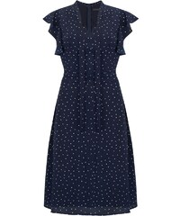 ae6088b10b3d Sugarhill Brighton Florrie Tmavo-Modré Bodkované Šaty