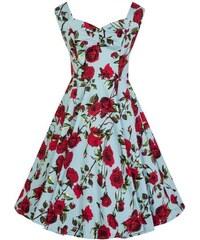 bd4381e7185 Hearts and Roses Modré Šaty S Ružami