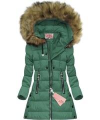 Jejmoda Dámska zimná bunda W607 zelená 5ff72a52a3e