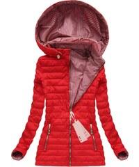 Jejmoda Dámska prechodná obojstranná bunda W617 červená 93a27d86fd8