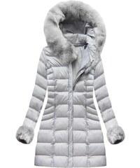 Jejmoda Dámska zimná bunda MODA751BIG šedá 70e6bcf8abb