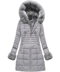 Jejmoda Dámska zimná bunda šedá MODA521BIG 9d15c7dfeb6