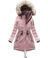 Jejmoda Dámska zimná bunda parka MODA630 ružová 684c7c096c