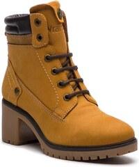 Magasított cipő WRANGLER - Sierra Nubuck WI182521 Tan Yellow 24 1e836d8416