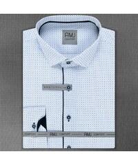 b62e693ec53 AMJ bílé pánské košile - Glami.cz