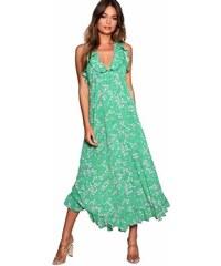 e85f9f8177b5 BOOHOO Zavinovací květinové maxi šaty