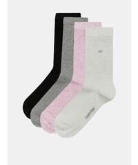 c6264a34e4b Balenie štyroch párov dámskych melírovaných ponožiek v sivej