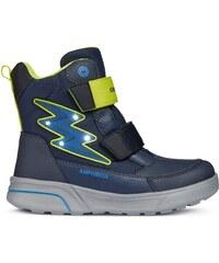 Geox Chlapčenské svietiace zimné topánky Sveggen - modré 8ac46eff6c1