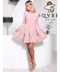 Růžové plesové krátké šaty - Glami.cz bc1d1728a0c