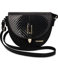 Klasická listonoška kabelka dámská monnari ozdobné zavírání dekorace - černá 0ee5c1b7dc1