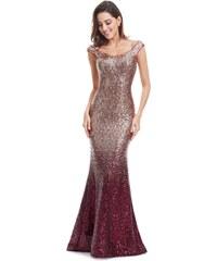 Perfect Plesové večerní jiskřící šaty se spadlými rameny - TOP 441d6554933