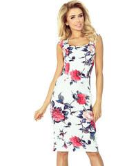 e38ac8b7d88e Numoco Kvetinové puzdrové šaty