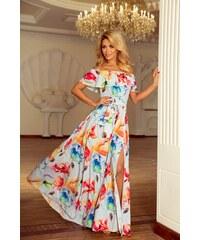 4b477ae0d3e6 Numoco Kvetinové maxi šaty s volánom 194-1