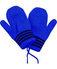 fa92b19e6ed Zimní rukavice - palčáky Pletex 10977 Tyrkysové s proužky