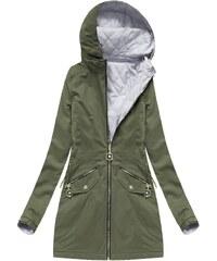680409c5e9f0 SPEED.A Oboustranná bunda v khaki barvě s kapucí (XW610X)