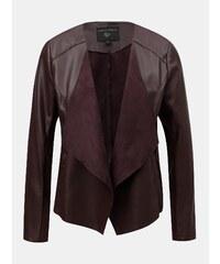Vínová koženková bunda Dorothy Perkins c7d28275ad3