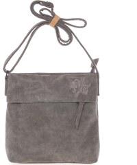 0f0d57f2a Dámska prvotriedna crossbody kabelka sivá - Piace Molto Tanda šedá