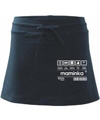 Myshirt.cz Čárový kód - Maminka - Sportovní sukně - two in one ca8afb8826