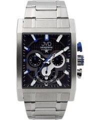 Hranaté luxusní moderní černé hodinky JVD seaplane W54.3 - chronografy e2d61a202b8