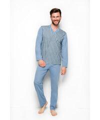 Taro 004 Dlouhé pánské pyžamo ROMAN 2XL-3XL 8445067edf