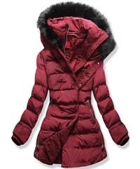 MODOVO Női téli kabát kapucnival S600 bordó - Glami.hu a393861ed1