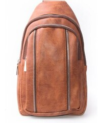 Lucy World Pánský malý batoh MINI eko leather brown 8809 bdeb33161f