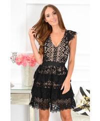 8245d95fd121 PLANETA-MODY Krajkované šaty Cleo CO-34850 čierna telová