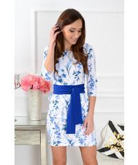 PLANETA-MODY Vzorované šaty s opaskom Melanie CO-35714 40f90a36afe
