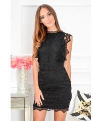 7565b3199b21 PLANETA-MODY Čierne krajkované šaty Kendal CO-39507