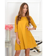 b9883fbaa6a0 La blanche Horčicové oversize šaty Glory CO-39841